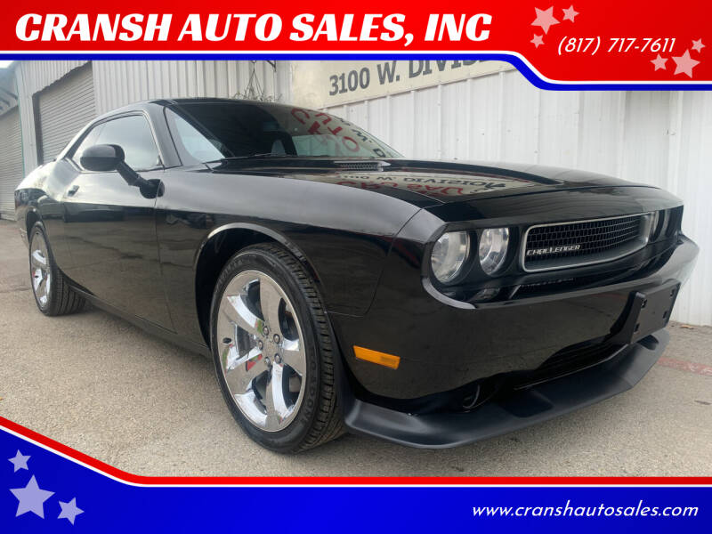 2013 Dodge Challenger for sale at CRANSH AUTO SALES, INC in Arlington TX