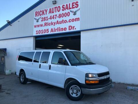 2016 Chevrolet Express Passenger for sale at Ricky Auto Sales in Houston TX
