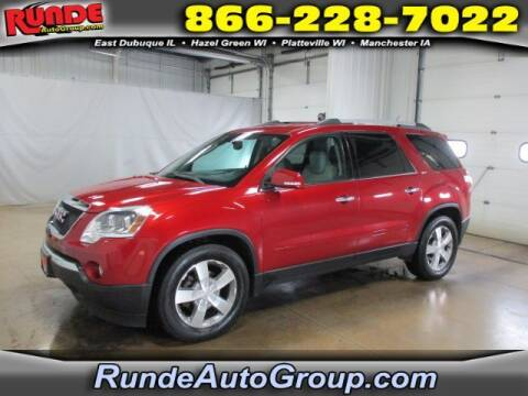 2012 GMC Acadia for sale at Runde Chevrolet in East Dubuque IL