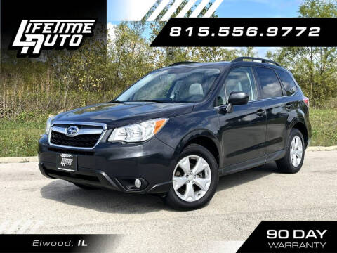 2015 Subaru Forester for sale at Lifetime Auto in Elwood IL
