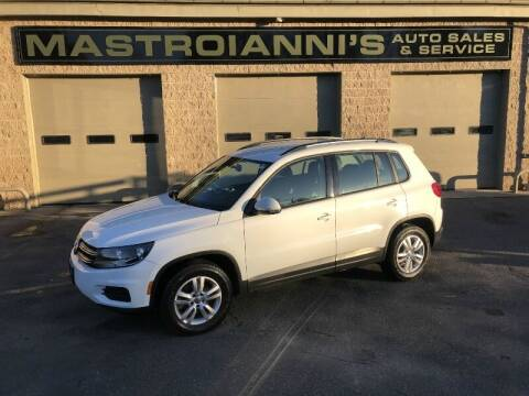2016 Volkswagen Tiguan for sale at Mastroianni Auto Sales in Palmer MA