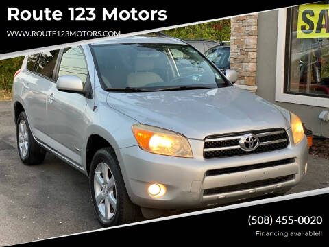 2006 Toyota RAV4 for sale at Route 123 Motors in Norton MA