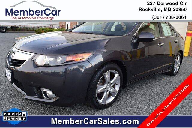 2012 Acura TSX for sale at MemberCar in Rockville MD