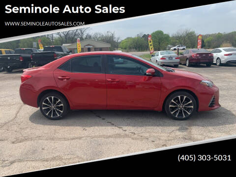 2017 Toyota Corolla for sale at Seminole Auto Sales in Seminole OK