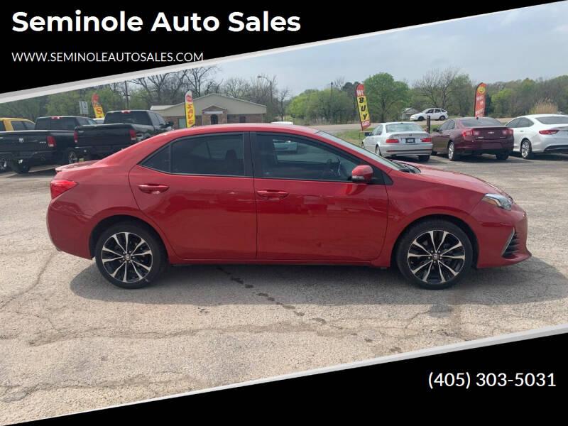 2017 Toyota Corolla for sale at Seminole Auto Sales in Seminole OK