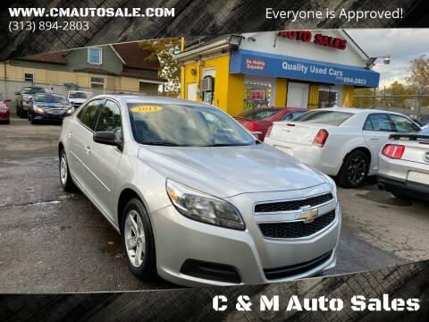 2013 Chevrolet Malibu for sale at C & M Auto Sales in Detroit MI