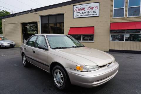 2002 Chevrolet Prizm for sale at I-Deal Cars LLC in York PA