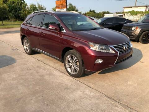 2015 Lexus RX 350 for sale at Orange Auto Sales in Houston TX
