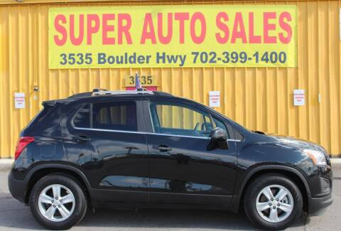 2015 Chevrolet Trax for sale at Super Auto Sales in Las Vegas NV