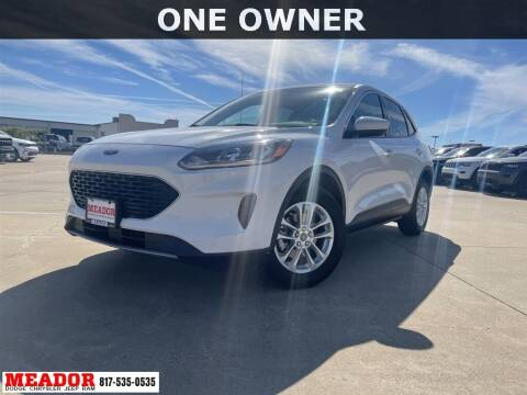 2020 Ford Escape for sale at Meador Dodge Chrysler Jeep RAM in Fort Worth TX