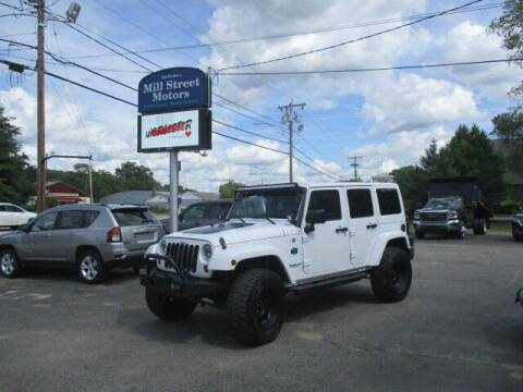 2012 Jeep Wrangler Unlimited for sale at Mill Street Motors in Worcester MA