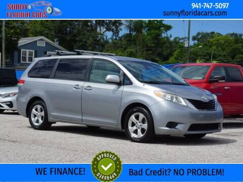 2012 Toyota Sienna for sale at Sunny Florida Cars in Bradenton FL