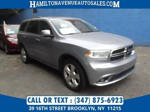 2014 Dodge Durango for sale at Hamilton Avenue Auto Sales in Brooklyn NY