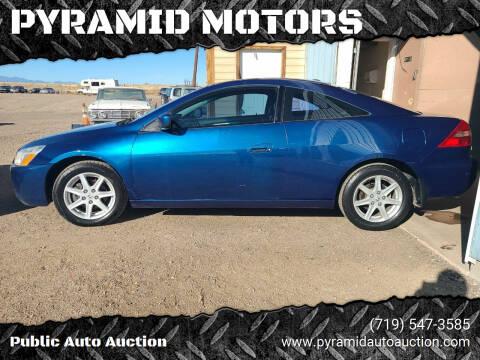 2004 Honda Accord for sale at PYRAMID MOTORS - Pueblo Lot in Pueblo CO