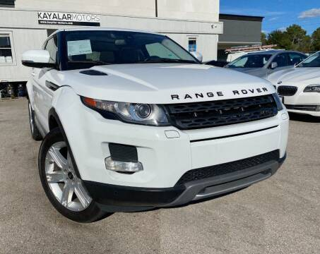 2013 Land Rover Range Rover Evoque Coupe for sale at KAYALAR MOTORS in Houston TX
