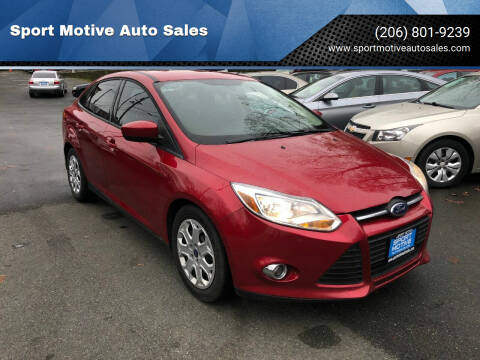 2012 Ford Focus for sale at Sport Motive Auto Sales in Seattle WA