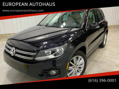 2013 Volkswagen Tiguan for sale at EUROPEAN AUTOHAUS in Holland MI