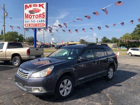 2011 Subaru Outback for sale at MSK Motors in Bradenton FL
