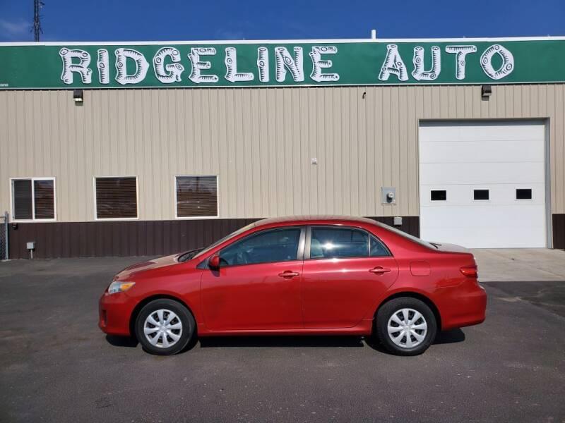 2011 Toyota Corolla for sale at RIDGELINE AUTO in Chubbuck ID