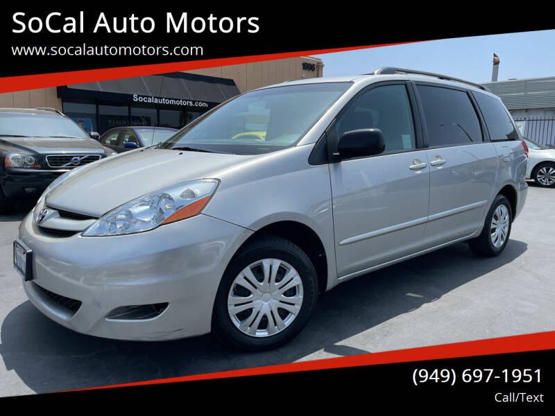 2007 Toyota Sienna for sale at SoCal Auto Motors in Costa Mesa CA