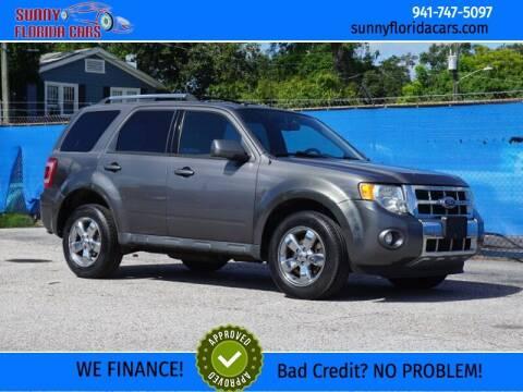 2012 Ford Escape for sale at Sunny Florida Cars in Bradenton FL