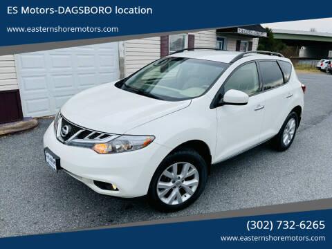 2014 Nissan Murano for sale at ES Motors-DAGSBORO location in Dagsboro DE