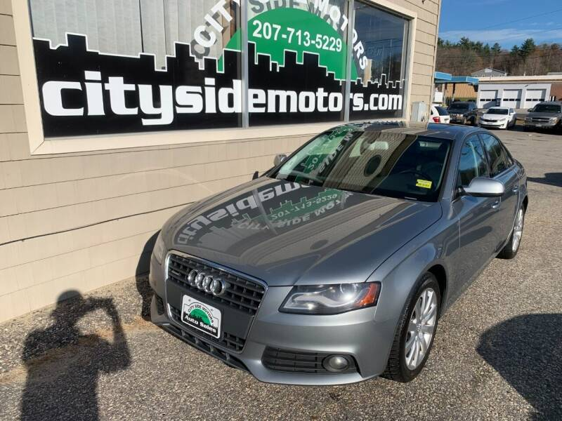 2011 Audi A4 for sale at CITY SIDE MOTORS in Auburn ME