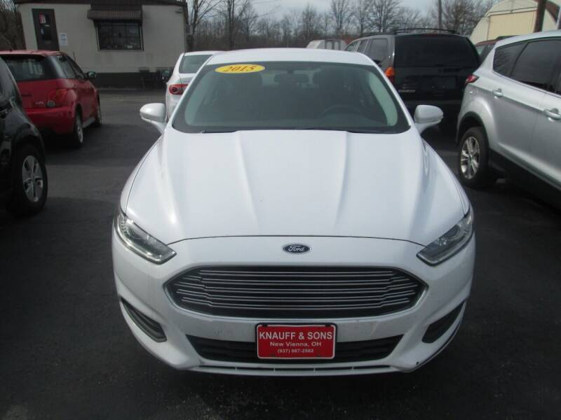 2015 Ford Fusion for sale at Knauff & Sons Motor Sales in New Vienna OH