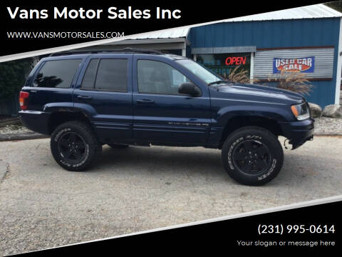 2000 Jeep Grand Cherokee for sale at Vans Motor Sales Inc in Traverse City MI