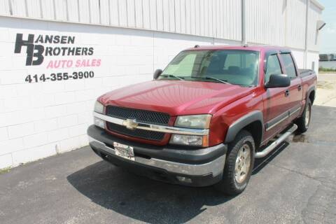 2004 Chevrolet Silverado 1500 for sale at HANSEN BROTHERS AUTO SALES in Milwaukee WI