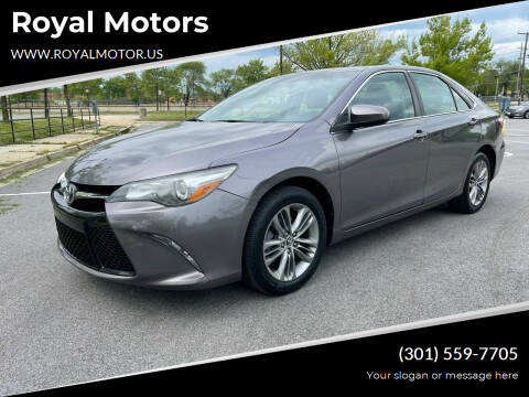 2015 Toyota Camry for sale at Royal Motors in Hyattsville MD