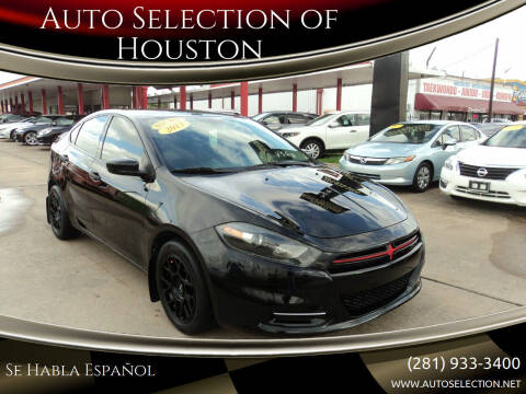 2013 Dodge Dart for sale at Auto Selection of Houston in Houston TX