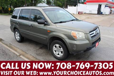 2007 Honda Pilot for sale at Your Choice Autos in Posen IL