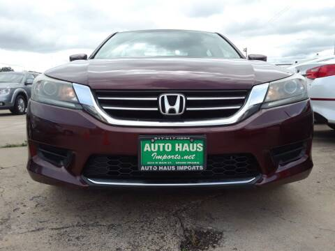 2014 Honda Accord for sale at Auto Haus Imports in Grand Prairie TX