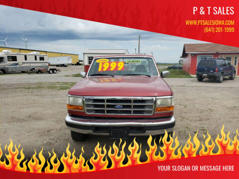 1996 Ford F-150 for sale at P & T SALES in Clear Lake IA
