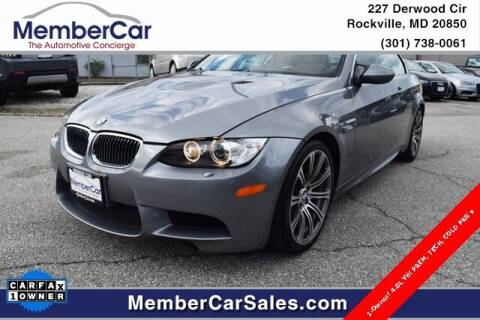 2008 BMW M3 for sale at MemberCar in Rockville MD