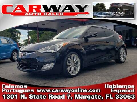 2013 Hyundai Veloster for sale at CARWAY Auto Sales in Margate FL