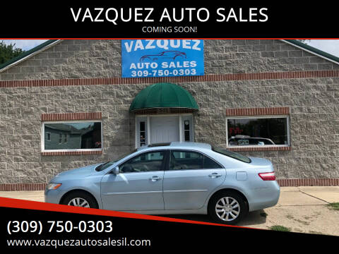 2007 Toyota Camry for sale at VAZQUEZ AUTO SALES in Bloomington IL