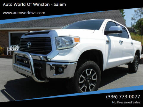 2016 Toyota Tundra for sale at Auto World Of Winston - Salem in Winston Salem NC