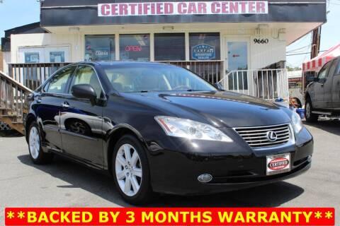 2007 Lexus ES 350 for sale at CERTIFIED CAR CENTER in Fairfax VA