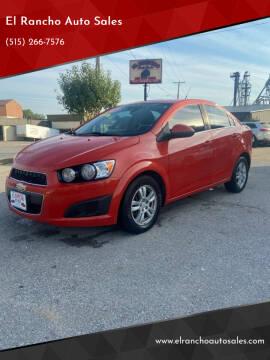 2012 Chevrolet Sonic for sale at El Rancho Auto Sales in Des Moines IA