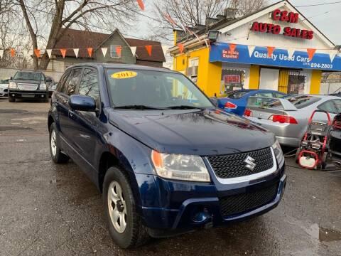 2012 Suzuki Grand Vitara for sale at C & M Auto Sales in Detroit MI
