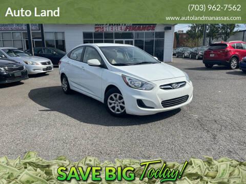 2013 Hyundai Accent for sale at Auto Land in Manassas VA
