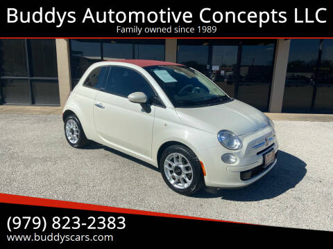 2013 FIAT 500c for sale at Buddys Automotive Concepts LLC in Bryan TX