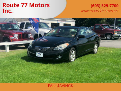 2006 Toyota Camry Solara for sale at Route 77 Motors Inc. in Weare NH