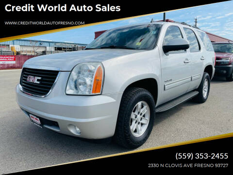 2010 GMC Yukon for sale at Credit World Auto Sales in Fresno CA