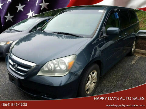 2006 Honda Odyssey for sale at Happy Days Auto Sales in Piedmont SC