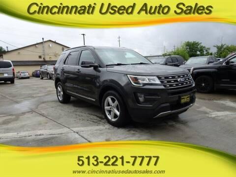2016 Ford Explorer for sale at Cincinnati Used Auto Sales in Cincinnati OH