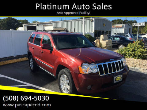 2008 Jeep Grand Cherokee for sale at Platinum Auto Sales in South Yarmouth MA