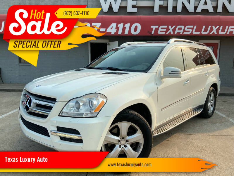 2012 Mercedes-Benz GL-Class for sale at Texas Luxury Auto in Cedar Hill TX